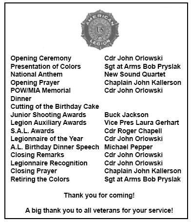 100th BIRTHDAY AMERICAN LEGION | Endeavor News